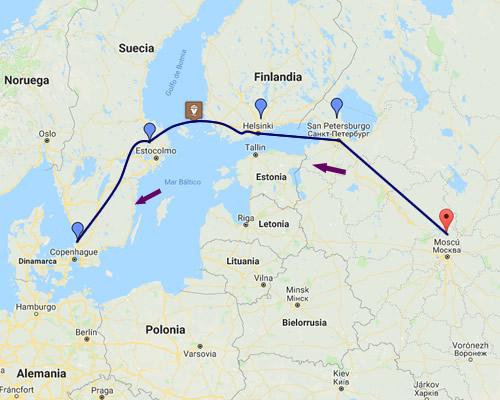 Escandinavia + Rusia MAPA