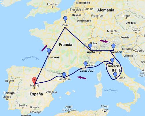 Europa Full Tour Mapa