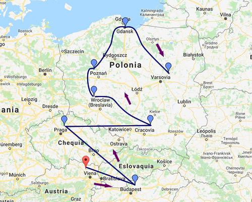 Europa del Este Mapa