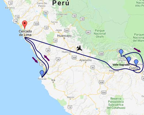 Perú Mágico MAPA
