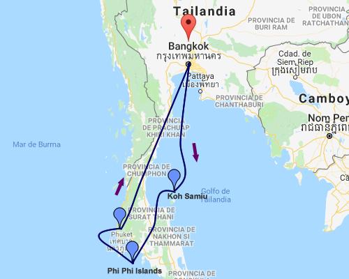 Tailandia MAPA