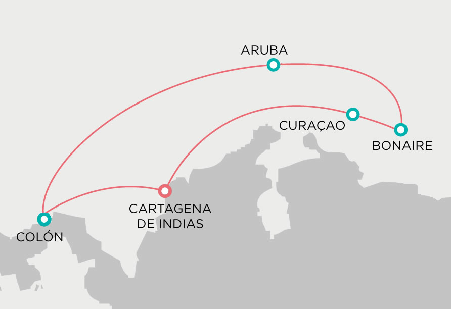Cartagena+Caribe Sur MAPA